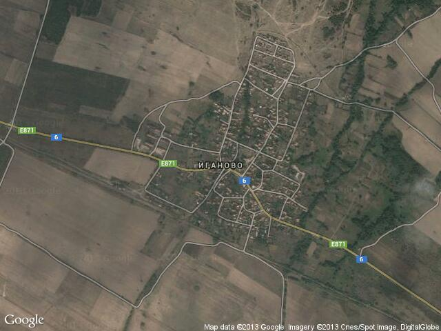 Сателитна карта на Иганово