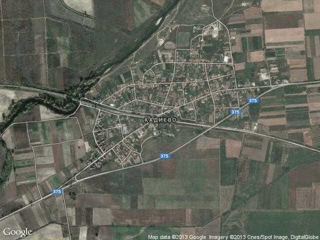 Сателитна карта на Кадиево