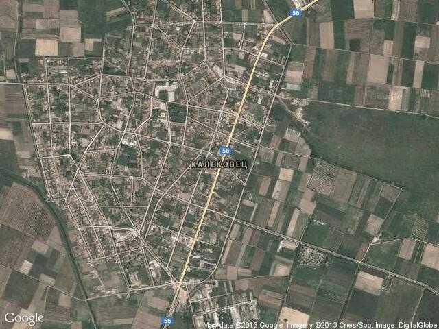 Сателитна карта на Калековец