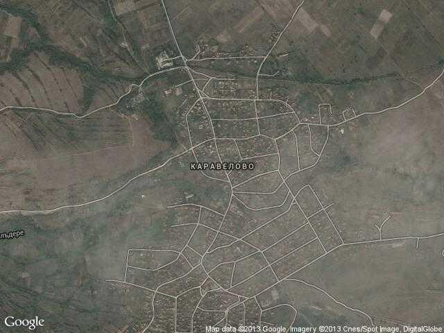 Сателитна карта на Каравелово