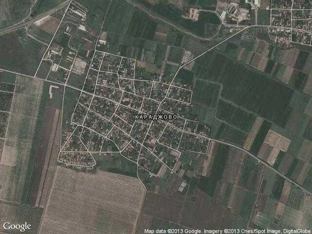 Сателитна карта на Караджово