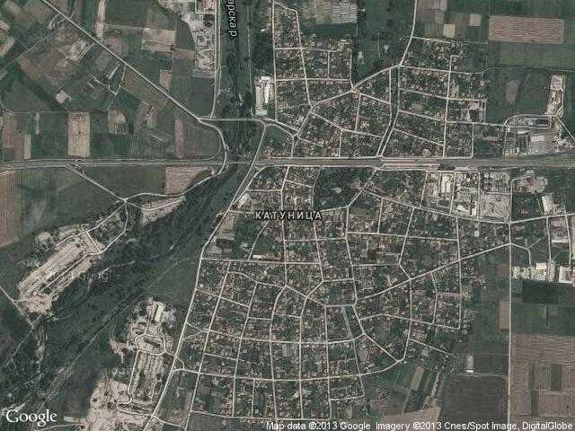 Сателитна карта на Катуница
