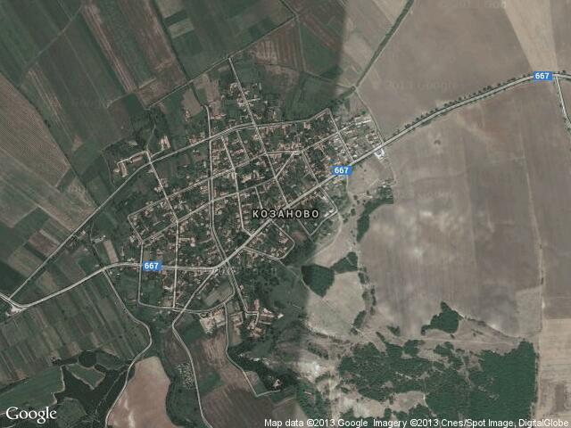 Сателитна карта на Козаново
