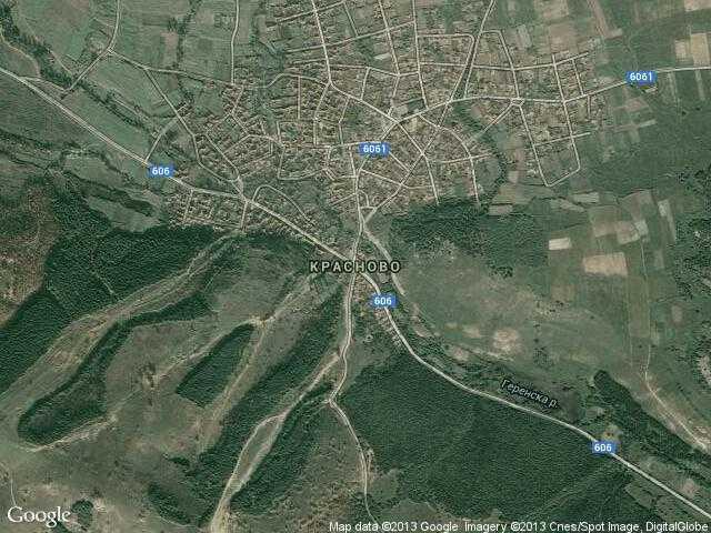 Сателитна карта на Красново