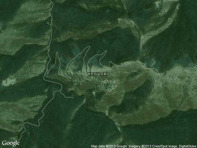 Сателитна карта на Крушово