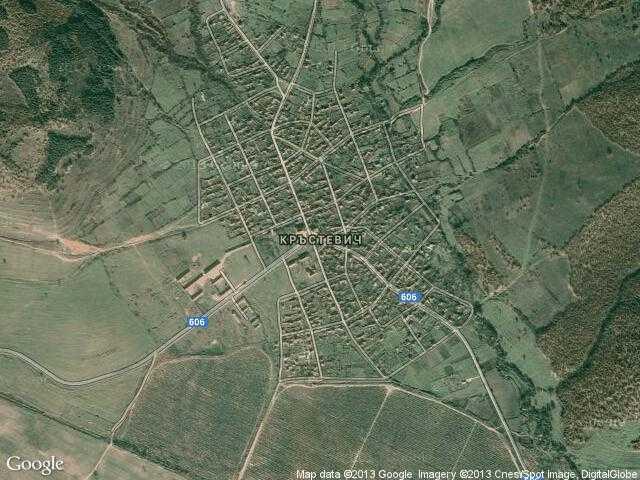 Сателитна карта на Кръстевич