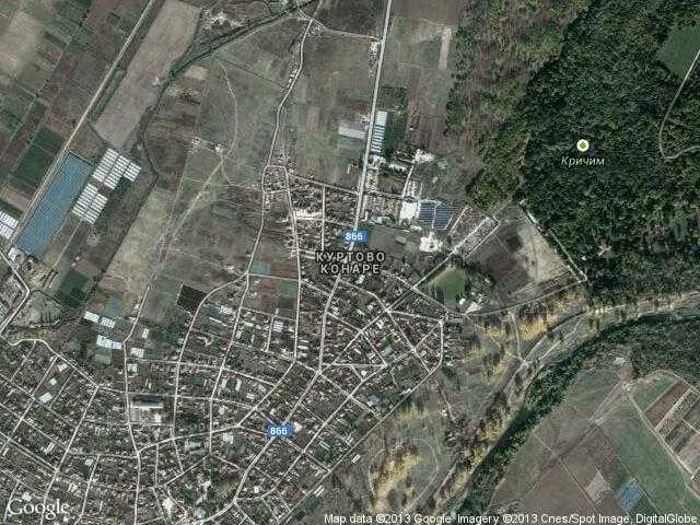 Сателитна карта на Куртово Конаре