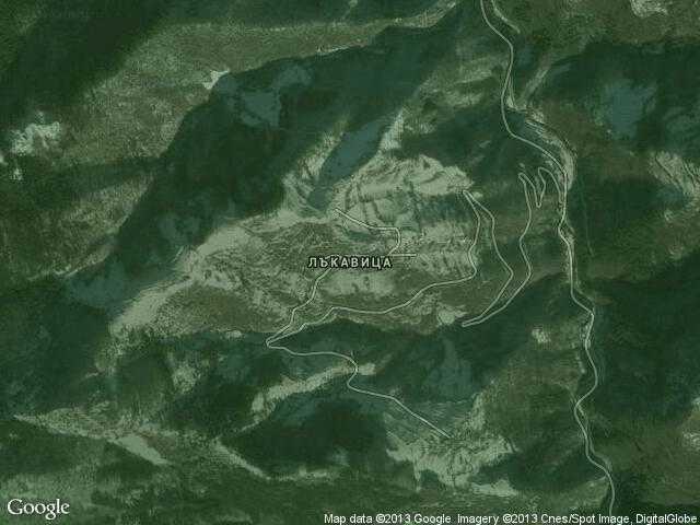 Сателитна карта на Лъкавица