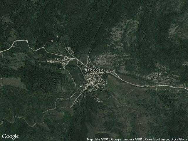 Сателитна карта на Лясково