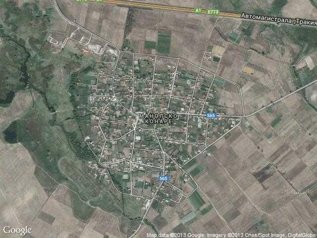 Сателитна карта на Манолско Конаре