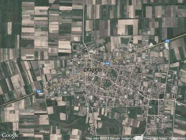 Сателитна карта на Милево