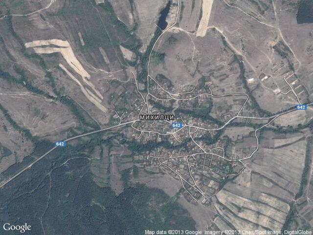 Сателитна карта на Михилци