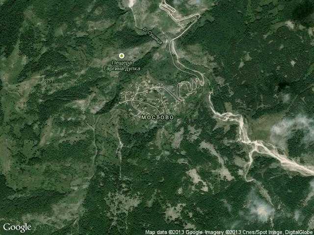 Сателитна карта на Мостово