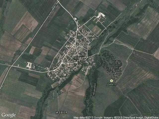 Сателитна карта на Нови извор
