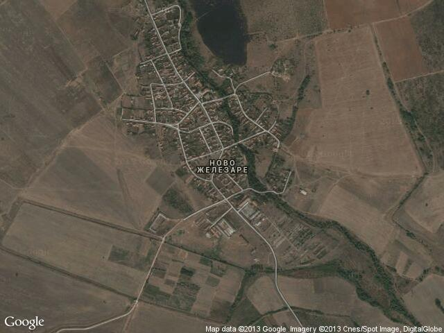 Сателитна карта на Ново Железаре