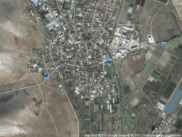 Сателитна карта на Ново село