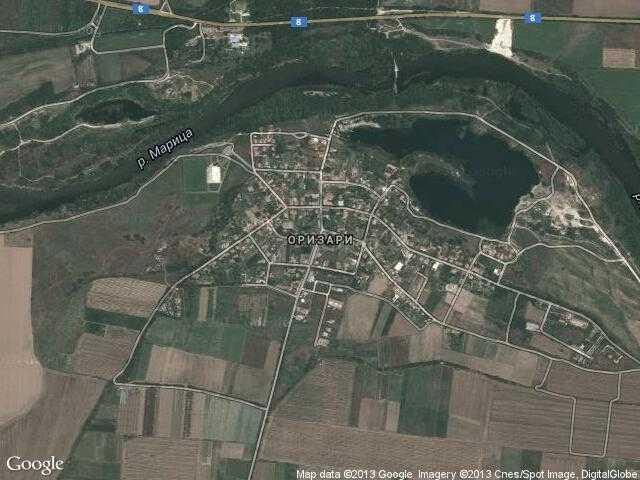 Сателитна карта на Оризари