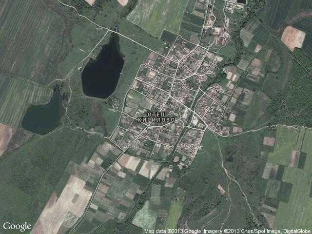 Сателитна карта на Отец Кирилово
