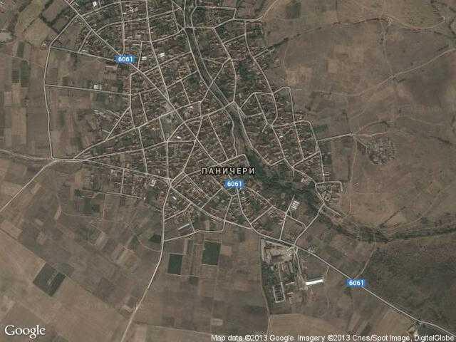 Сателитна карта на Паничери