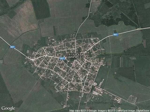 Сателитна карта на Патриарх Евтимово