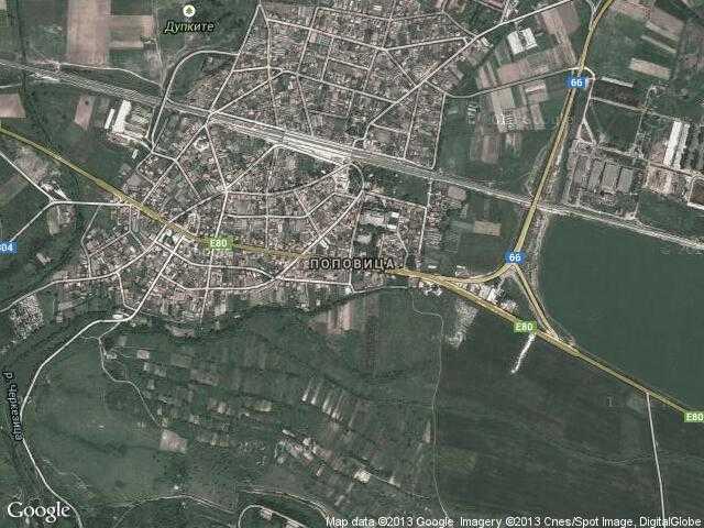 Сателитна карта на Поповица