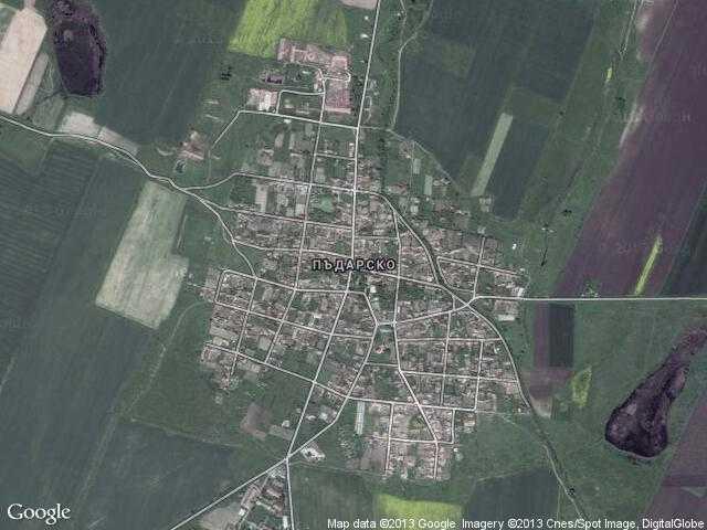 Сателитна карта на Пъдарско