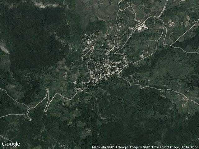 Сателитна карта на Руен