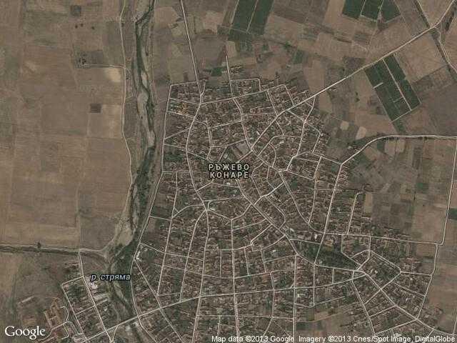Сателитна карта на Ръжево Конаре