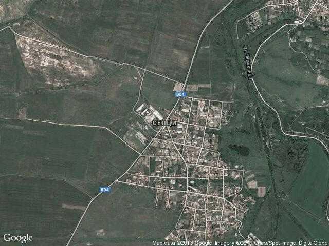 Сателитна карта на Селци