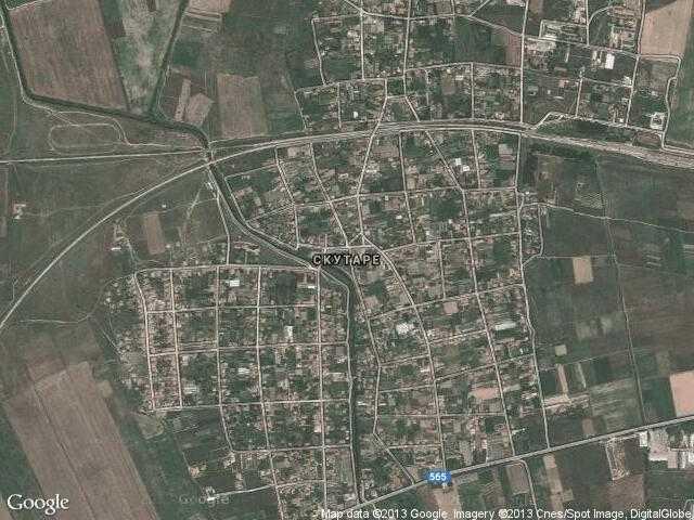 Сателитна карта на Скутаре