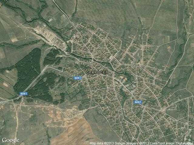 Сателитна карта на Старосел