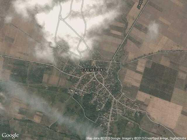 Сателитна карта на Столетово