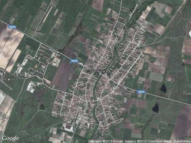 Сателитна карта на Стрелци