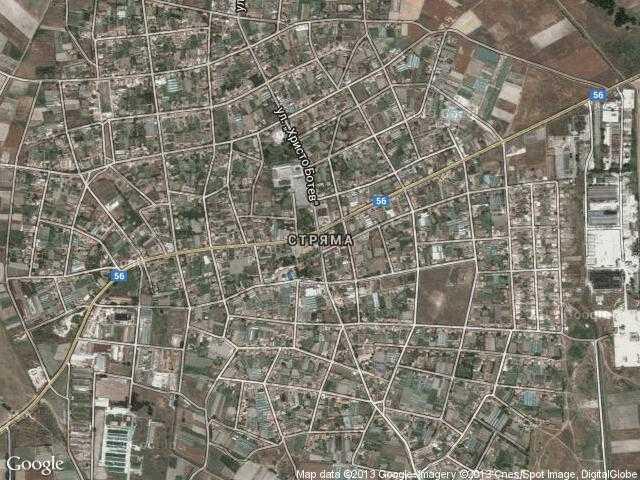 Сателитна карта на Стряма