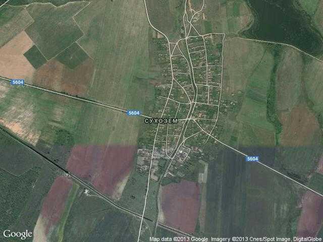 Сателитна карта на Сухозем