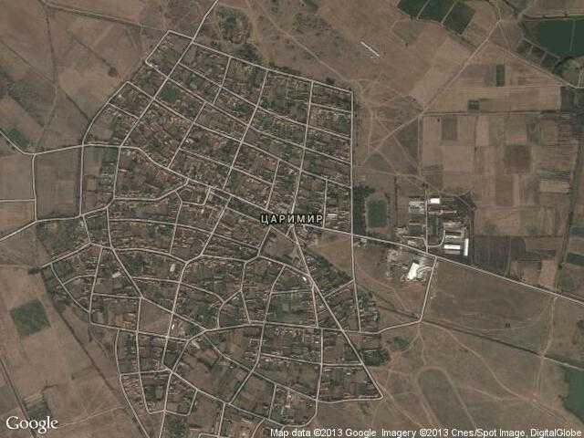 Сателитна карта на Царимир