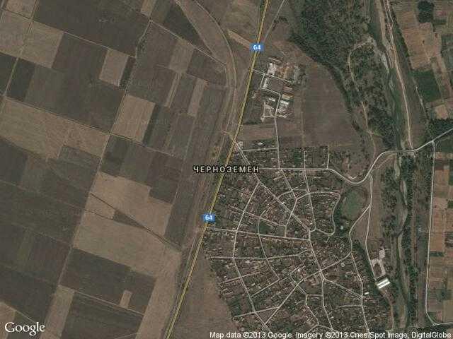 Сателитна карта на Черноземен