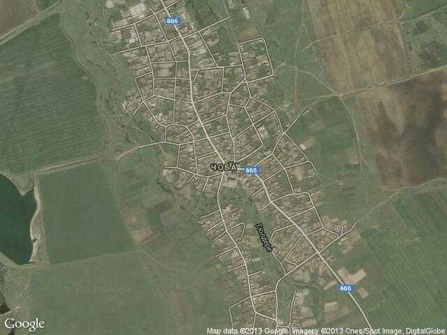 Сателитна карта на Чоба