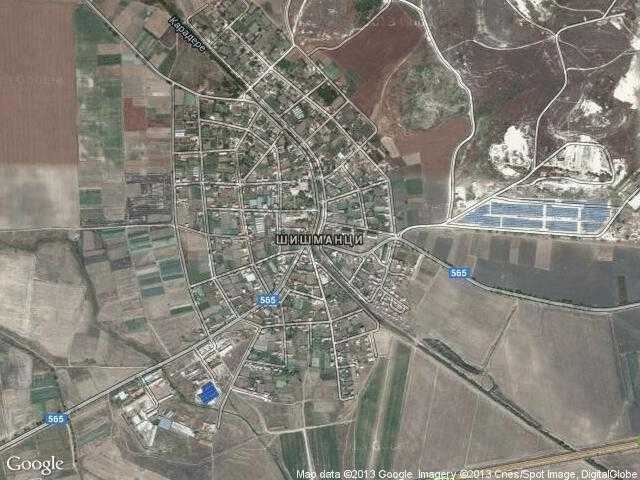 Сателитна карта на Шишманци