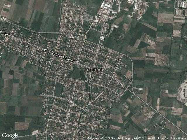 Сателитна карта на Ягодово