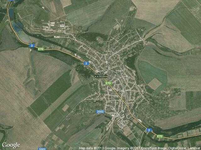 Сателитна карта на Цар Калоян