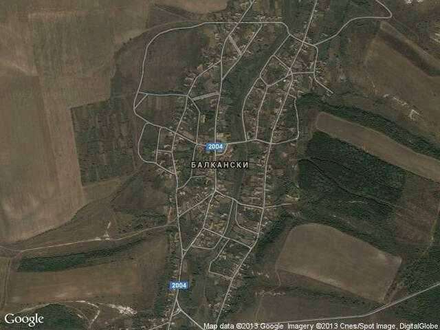 Сателитна карта на Балкански