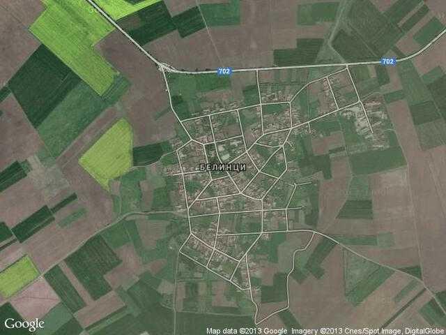 Сателитна карта на Белинци