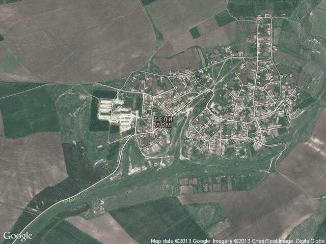 Сателитна карта на Бели Лом