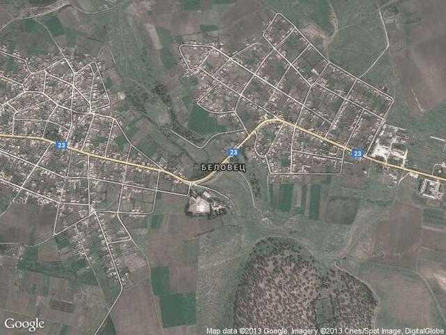 Сателитна карта на Беловец