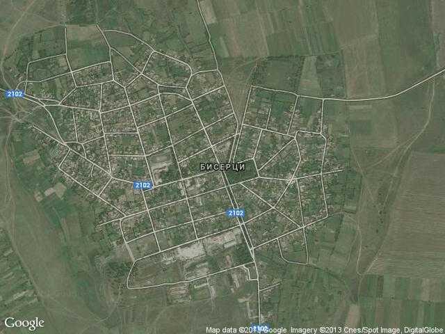 Сателитна карта на Бисерци