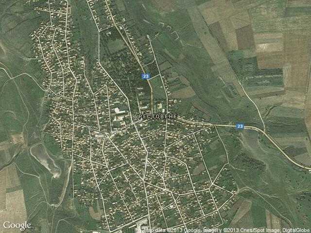 Сателитна карта на Брестовене