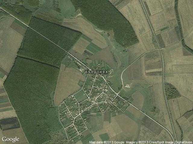 Сателитна карта на Бърдоква
