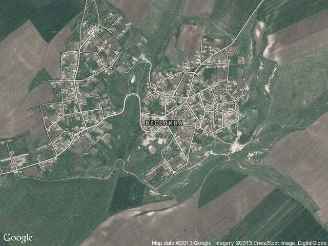 Сателитна карта на Веселина