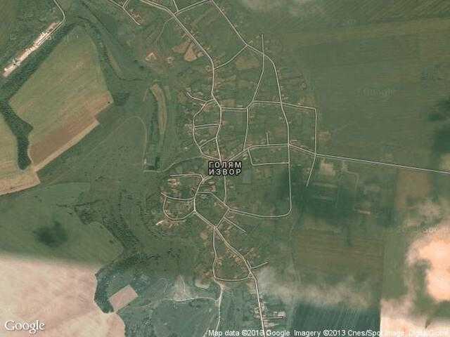 Сателитна карта на Голям извор